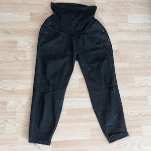Jessica Simpson Maternity Black Ankle Skinny Jeans